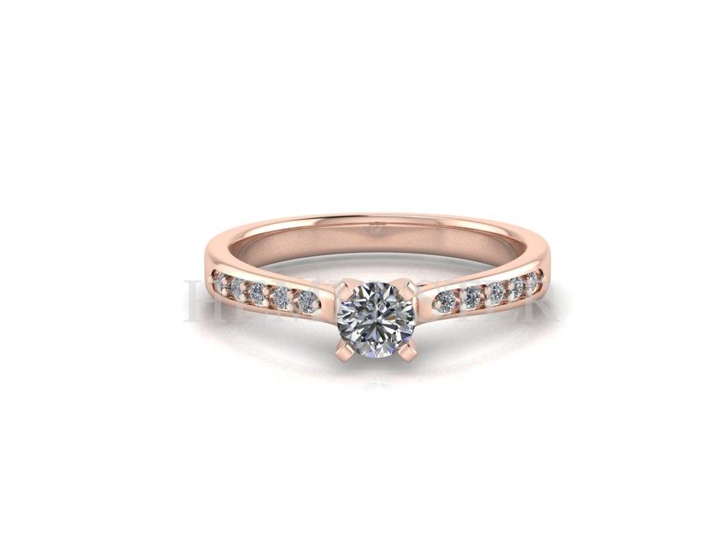 anillos con diamantes en oro rosa en Lima