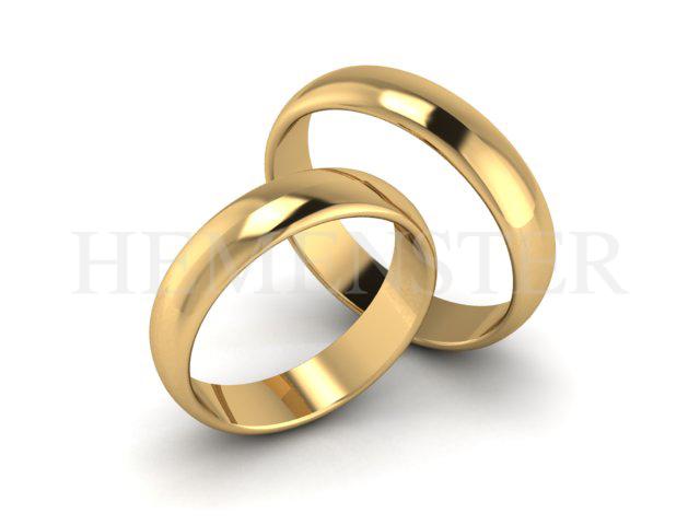Aros de matrimonio de oro amarillo