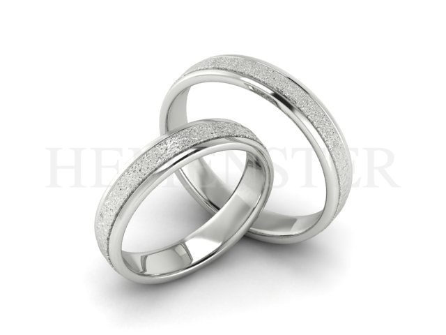 Aros de matrimonio de oro blanco