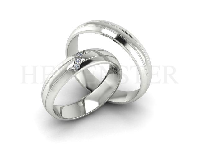Aros de matrimonio modernos en oro blanco