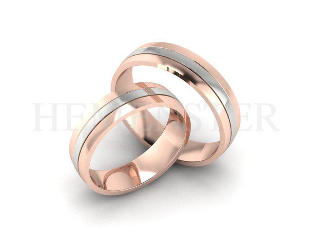 Aros de matrimonio de oro rosa