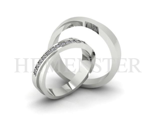 aros de matrimonio con diamantes en Perú