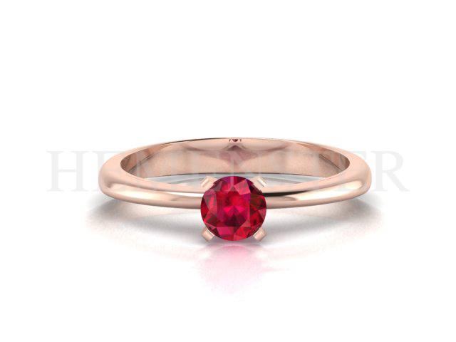 Anillos de compromiso en oro rosa con gemas de color