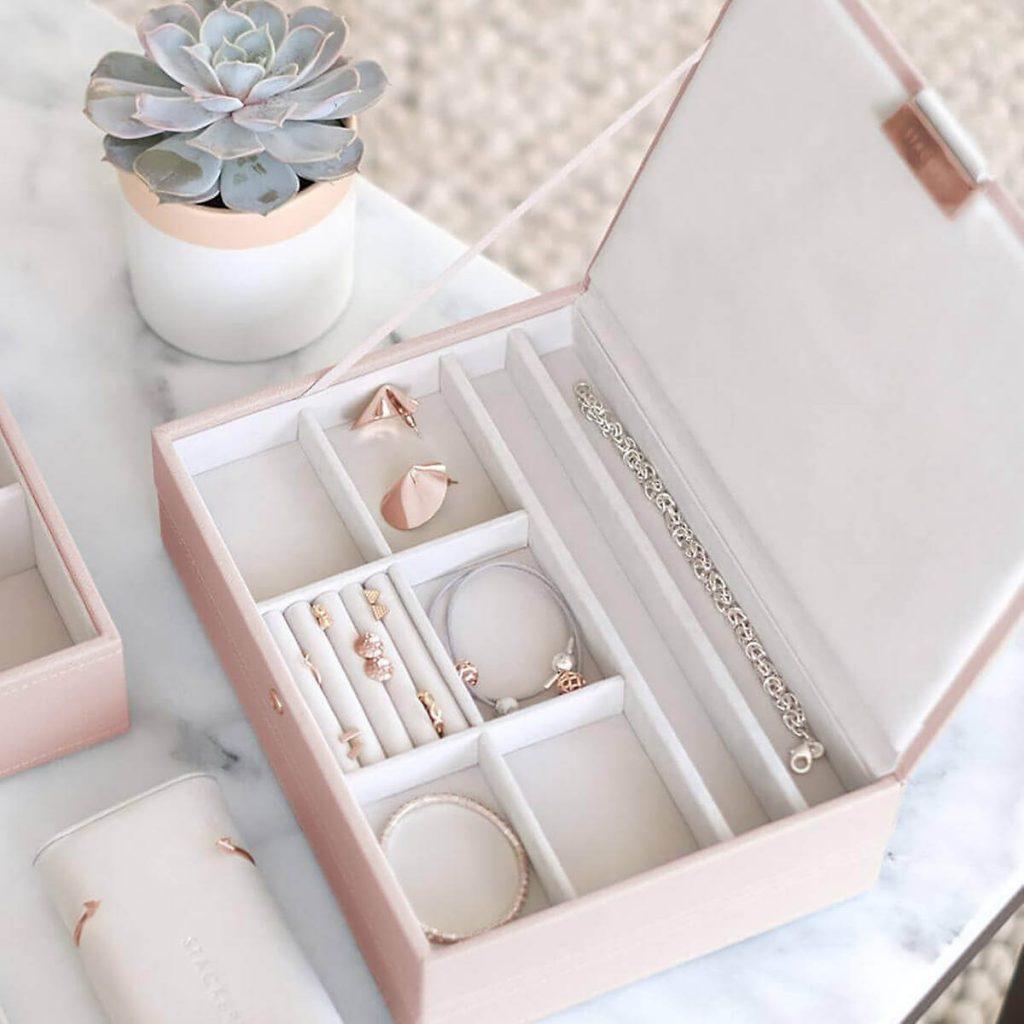 almacenamiento de las joyas